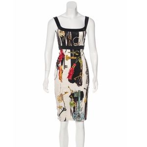 Diane Von Furstenberg Silk-Blend Printed Dress